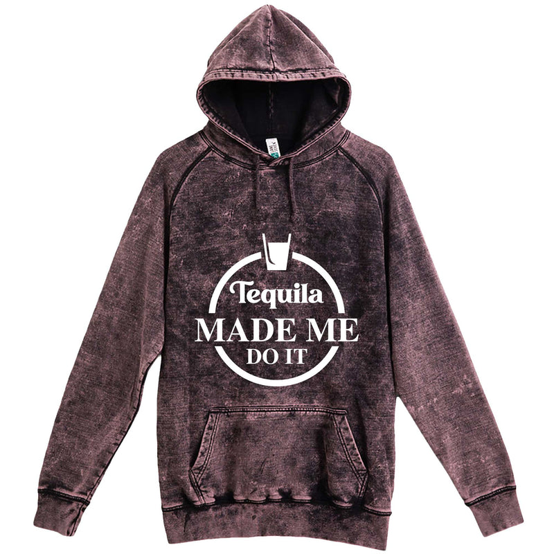 """Tequila Made Me Do It"" hoodie, 3XL, Vintage Cloud Black"