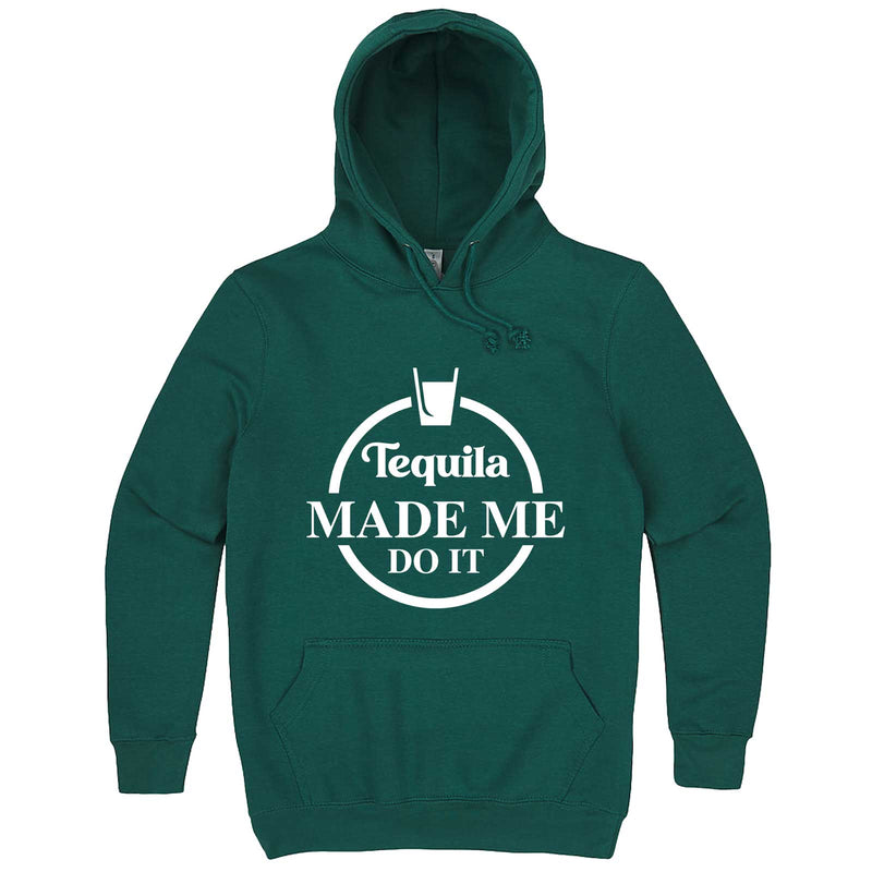 """Tequila Made Me Do It"" hoodie, 3XL, Teal"