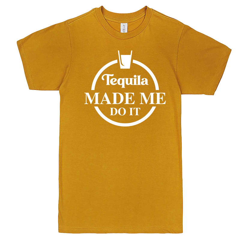 """Tequila Made Me Do It"" men's t-shirt Mustard"