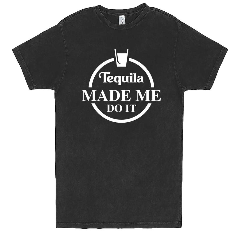 """Tequila Made Me Do It"" men's t-shirt Vintage Black"