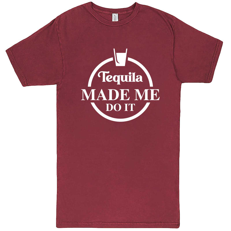 """Tequila Made Me Do It"" men's t-shirt Vintage Brick"
