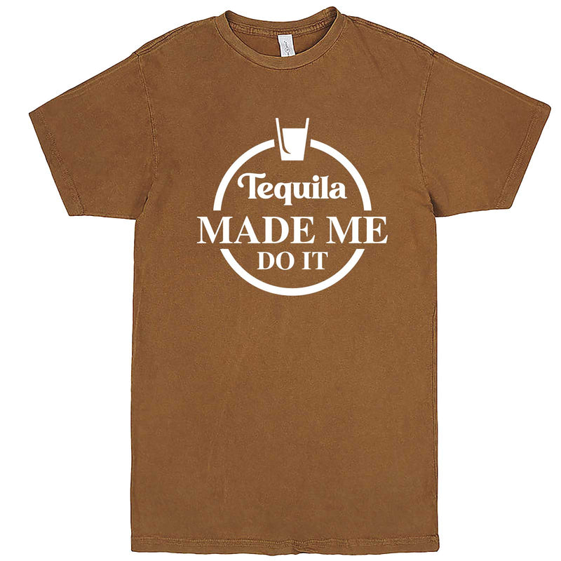 """Tequila Made Me Do It"" men's t-shirt Vintage Camel"