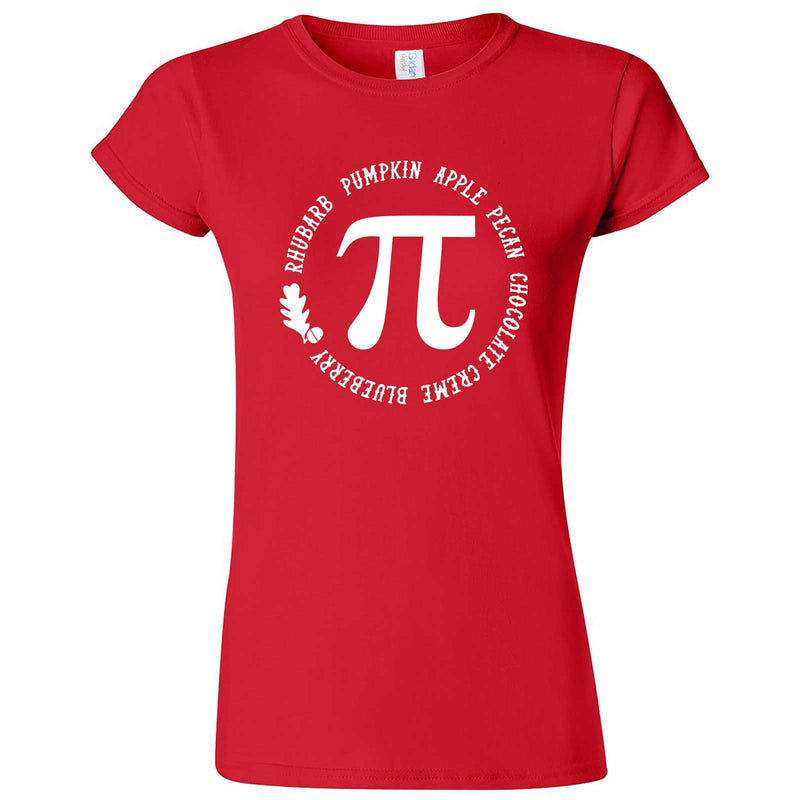 """Thanksgiving Pi - Geeky Foody Shirt"" women's t-shirt Red"