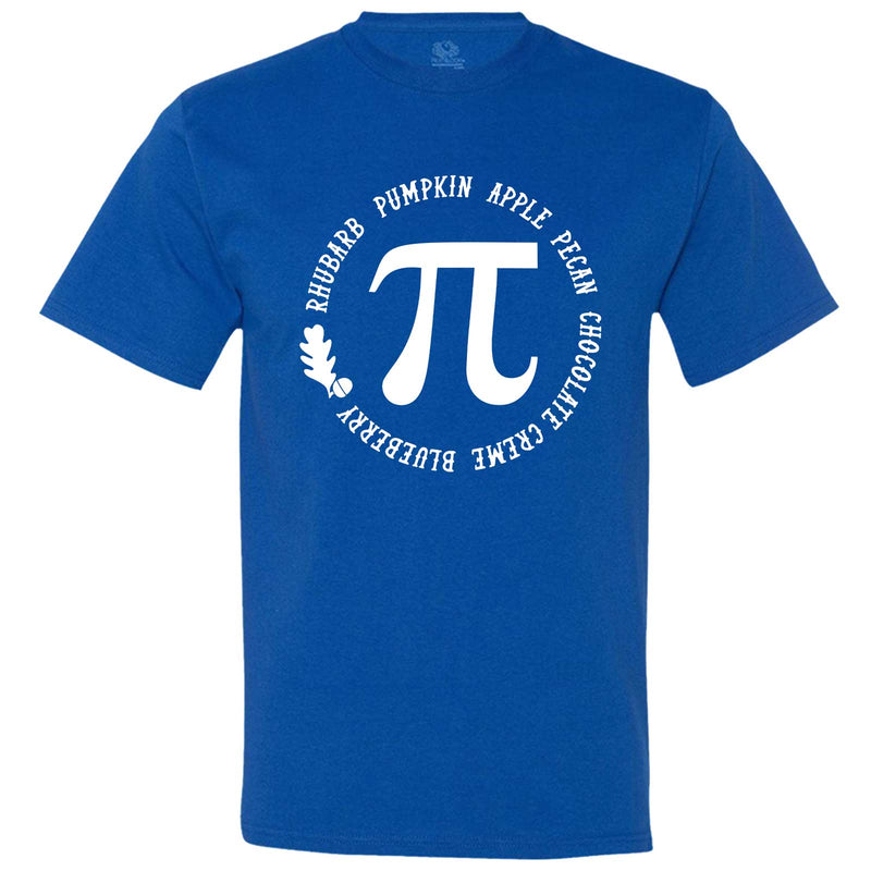 """Thanksgiving Pi - Geeky Foody Shirt"" men's t-shirt Royal-Blue"