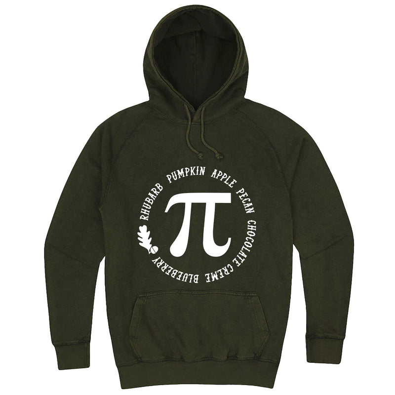 """Thanksgiving Pi - Geeky Foody Shirt"" hoodie, 3XL, Vintage Olive"