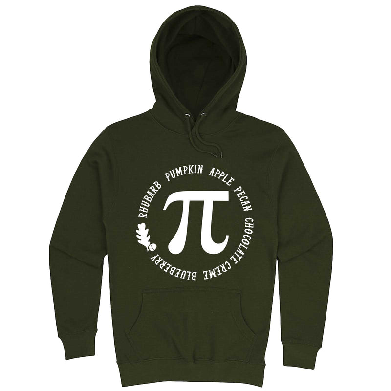 """Thanksgiving Pi - Geeky Foody Shirt"" hoodie, 3XL, Army Green"