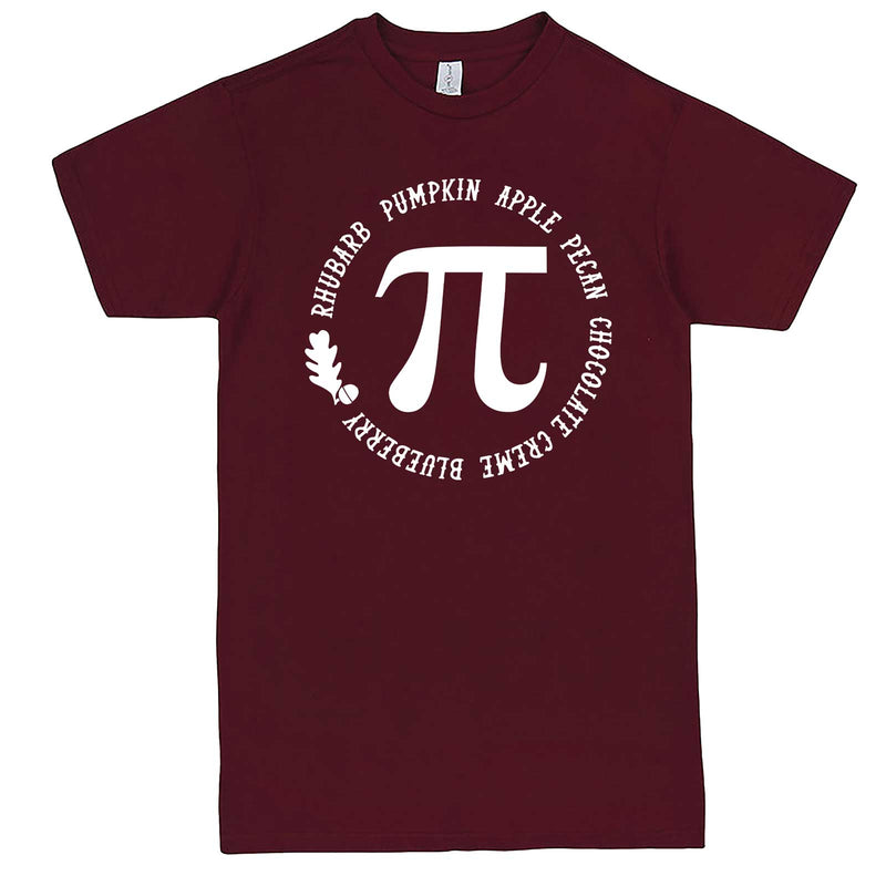 """Thanksgiving Pi - Geeky Foody Shirt"" men's t-shirt Burgundy"
