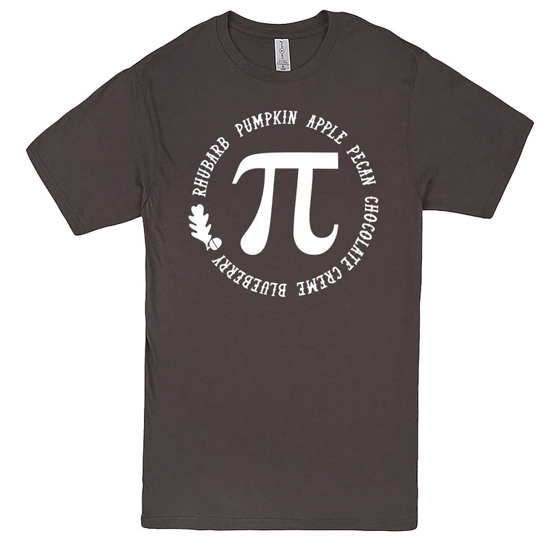 """Thanksgiving Pi - Geeky Foody Shirt"" men's t-shirt Charcoal"
