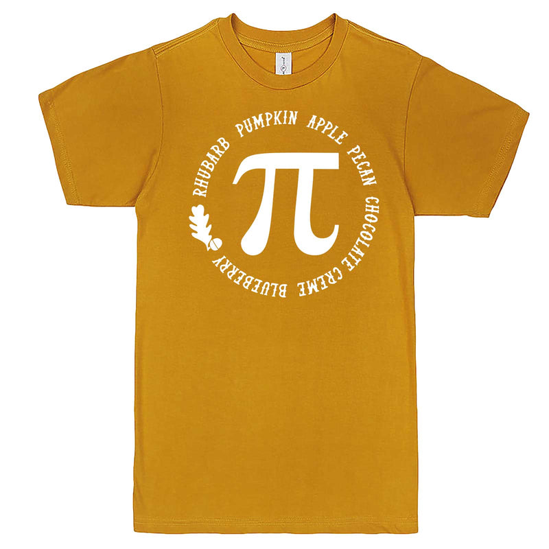 """Thanksgiving Pi - Geeky Foody Shirt"" men's t-shirt Mustard"