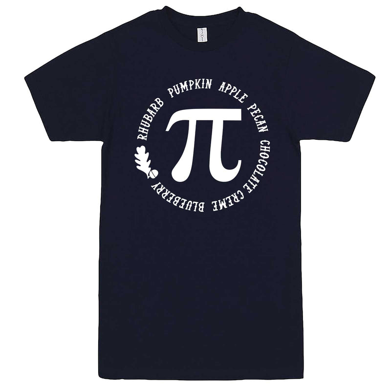 """Thanksgiving Pi - Geeky Foody Shirt"" men's t-shirt Navy-Blue"