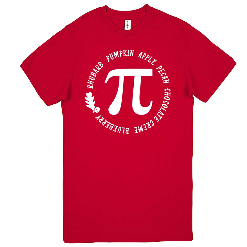 """Thanksgiving Pi - Geeky Foody Shirt"" men's t-shirt Red"