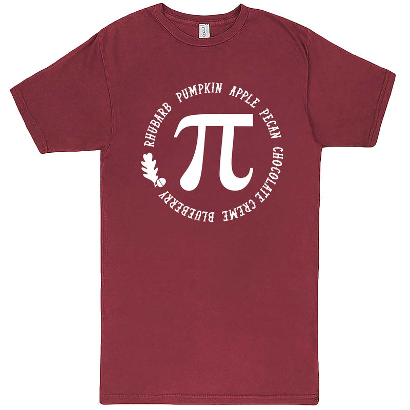 """Thanksgiving Pi - Geeky Foody Shirt"" men's t-shirt Vintage Brick"