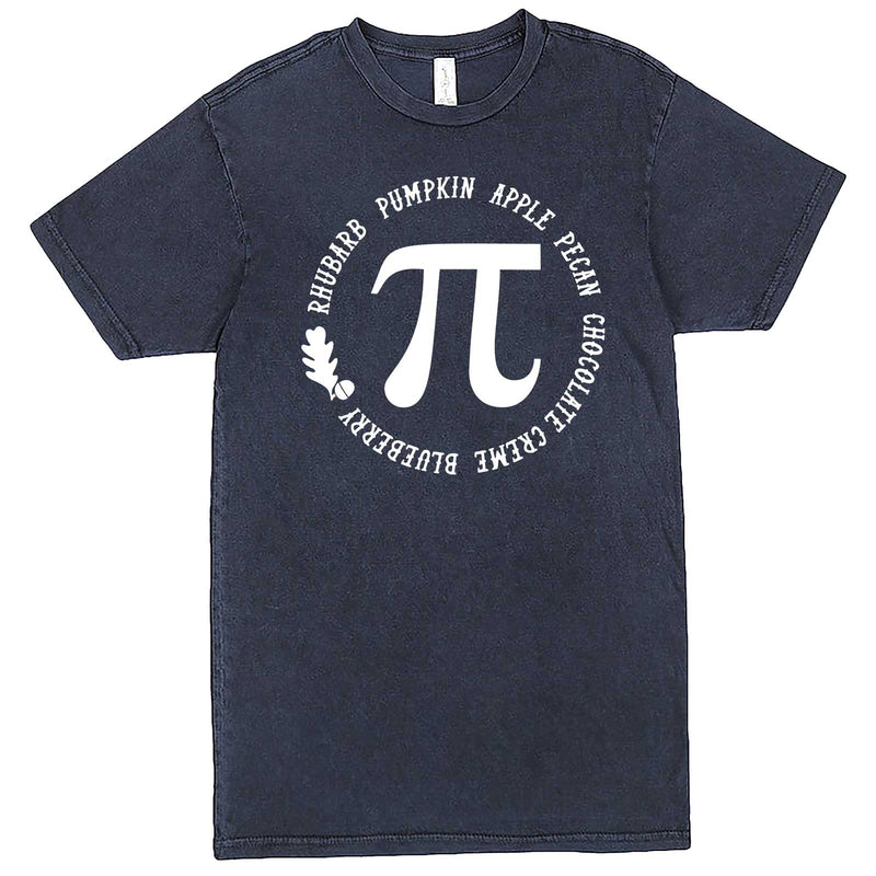 """Thanksgiving Pi - Geeky Foody Shirt"" men's t-shirt Vintage Denim"