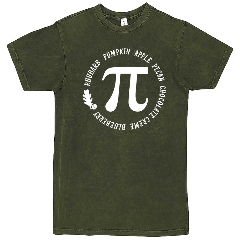 """Thanksgiving Pi - Geeky Foody Shirt"" men's t-shirt Vintage Olive"