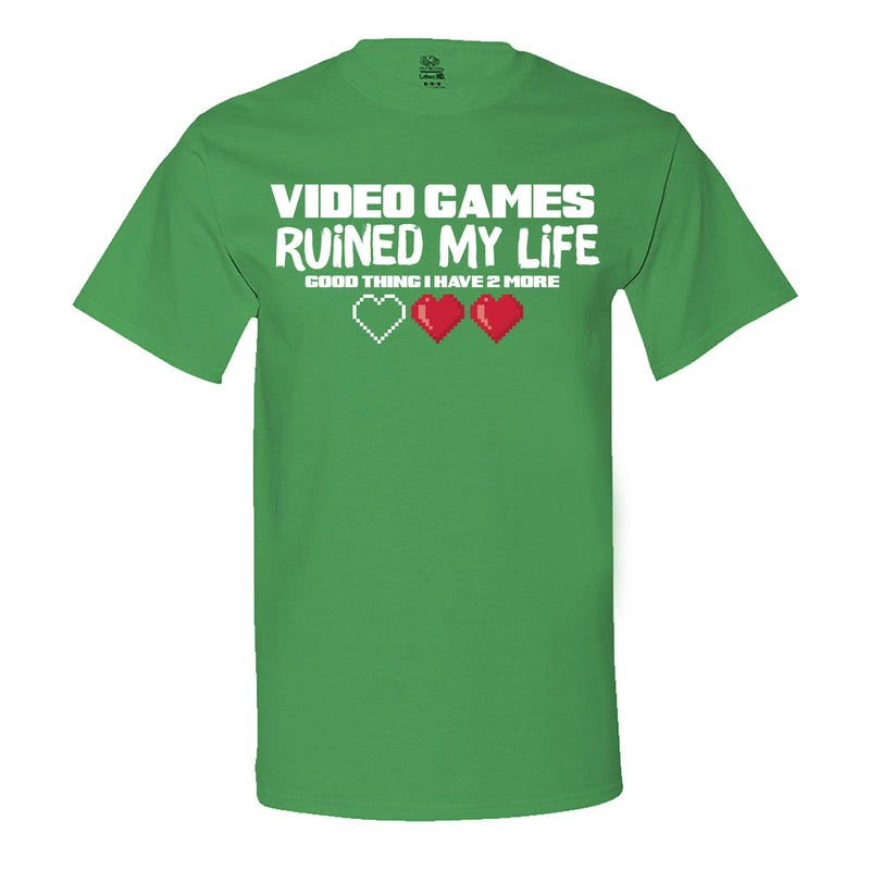 """Video Games Ruined My Life (Good Thing I Have Two More)"" Men's Shirt Irish-Green"