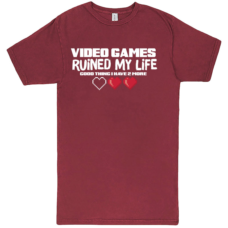 """Video Games Ruined My Life (Good Thing I Have Two More)"" Men's Shirt Vintage Brick"