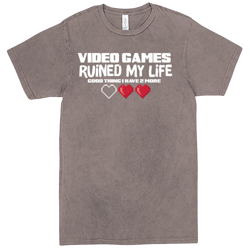 """Video Games Ruined My Life (Good Thing I Have Two More)"" Men's Shirt Vintage Zinc"