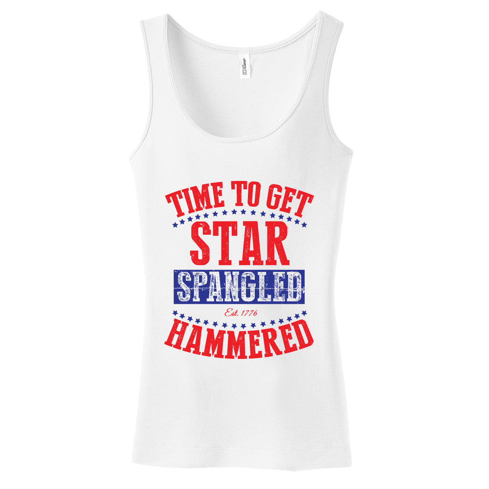 Time To Get Star Spangled Hammered Womens Tank
