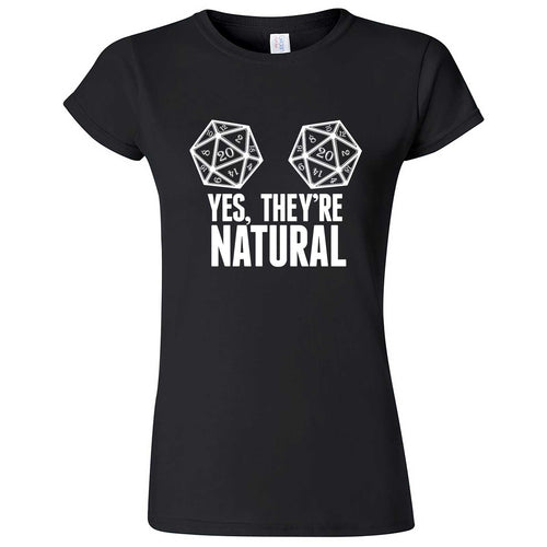"""Yes They're Natural"" women's t-shirt Black"