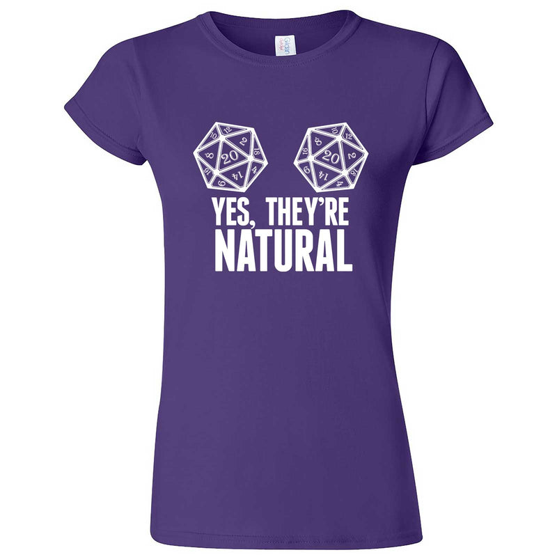 """Yes They're Natural"" women's t-shirt Purple"
