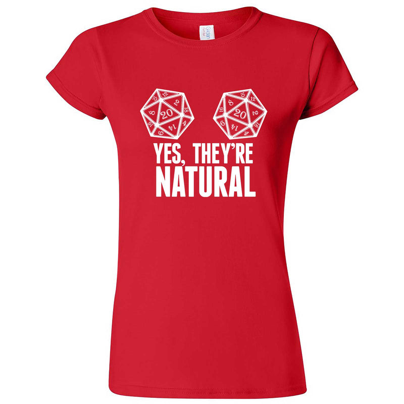 """Yes They're Natural"" women's t-shirt Red"