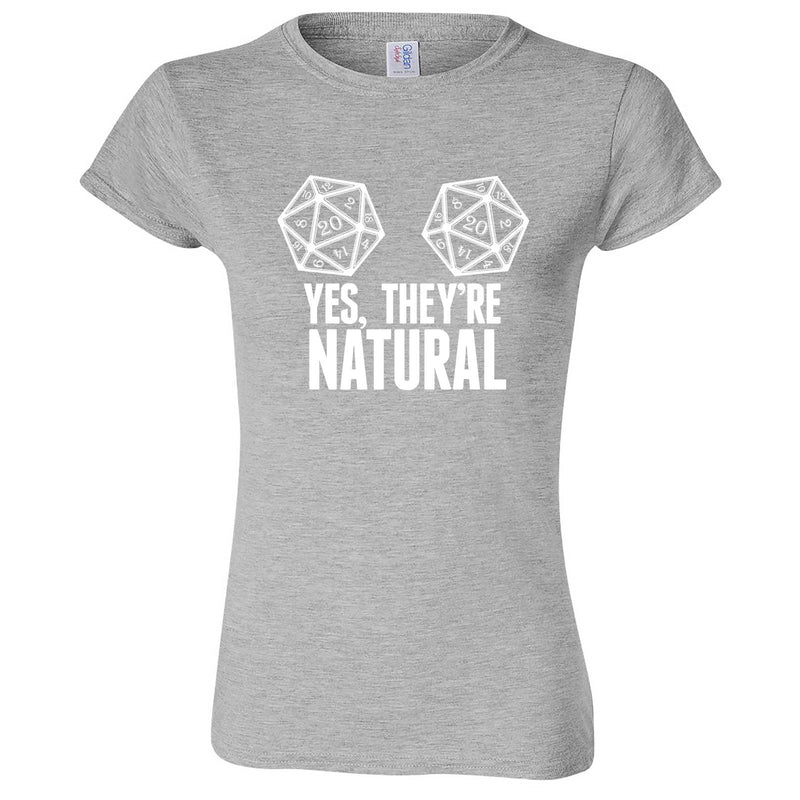 """Yes They're Natural"" women's t-shirt Sport Grey"
