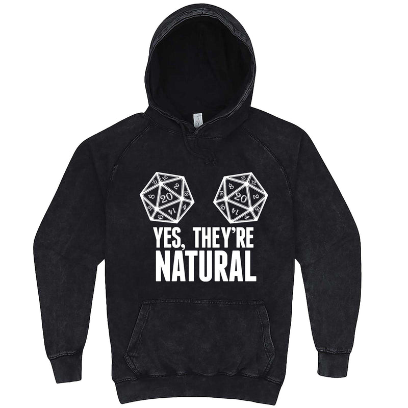 """Yes They're Natural"" hoodie, 3XL, Vintage Black"