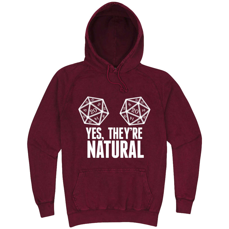 """Yes They're Natural"" hoodie, 3XL, Vintage Brick"