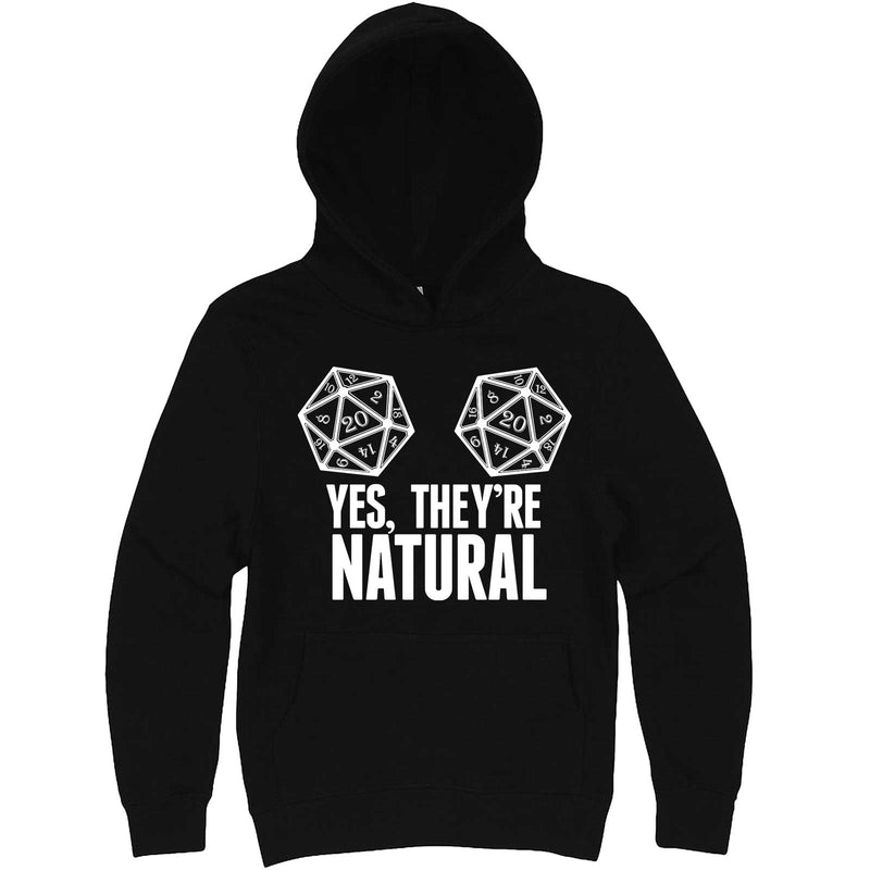 """Yes They're Natural"" hoodie, 3XL, Black"