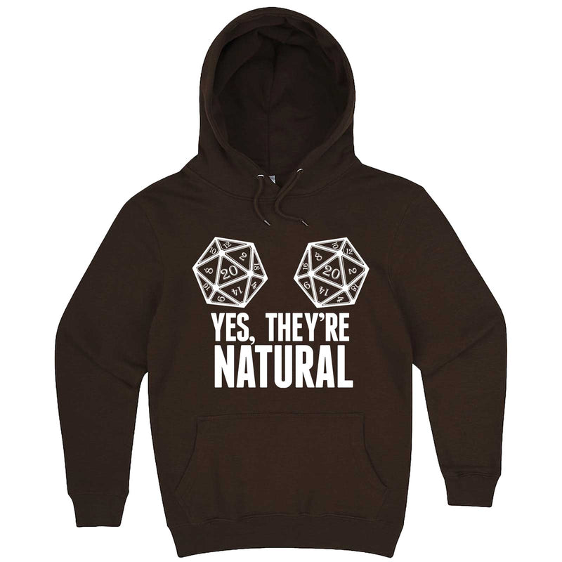 """Yes They're Natural"" hoodie, 3XL, Chestnut"