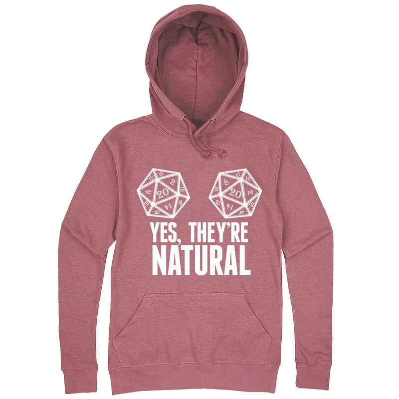 """Yes They're Natural"" hoodie, 3XL, Mauve"