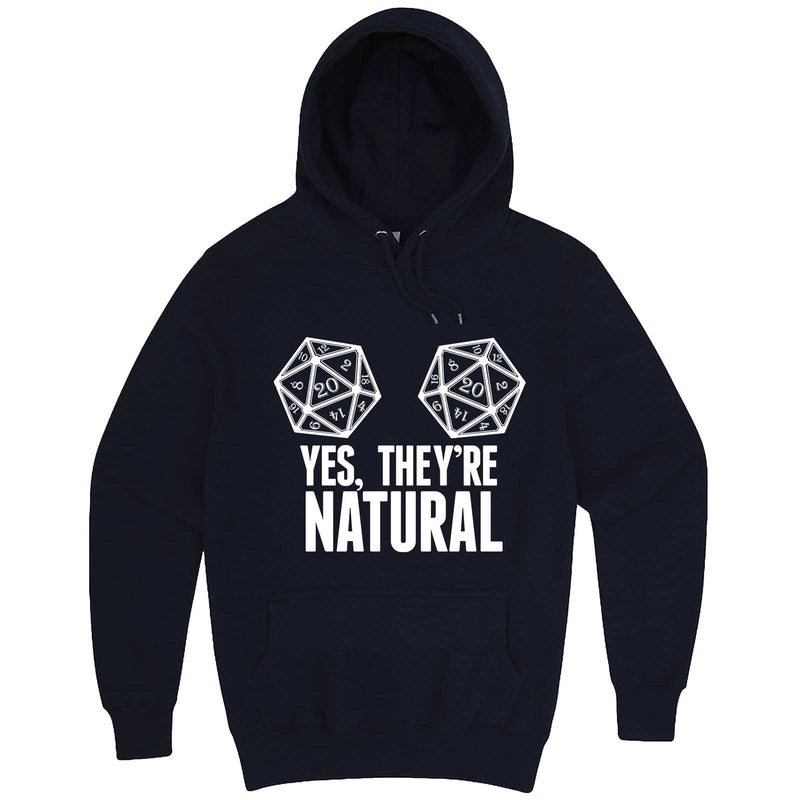 """Yes They're Natural"" hoodie, 3XL, Navy"