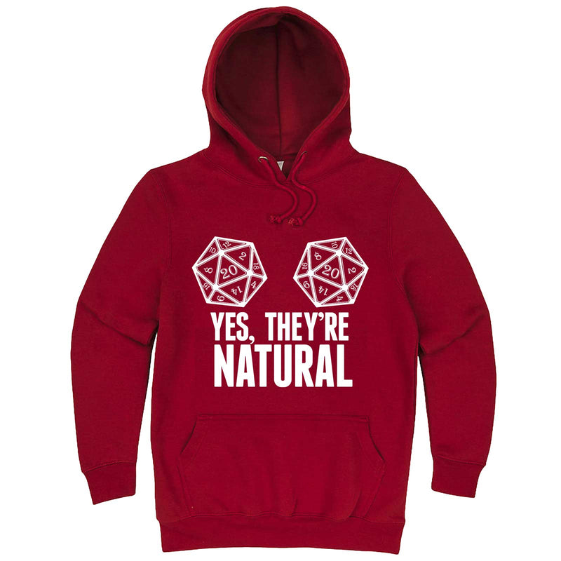 """Yes They're Natural"" hoodie, 3XL, Paprika"
