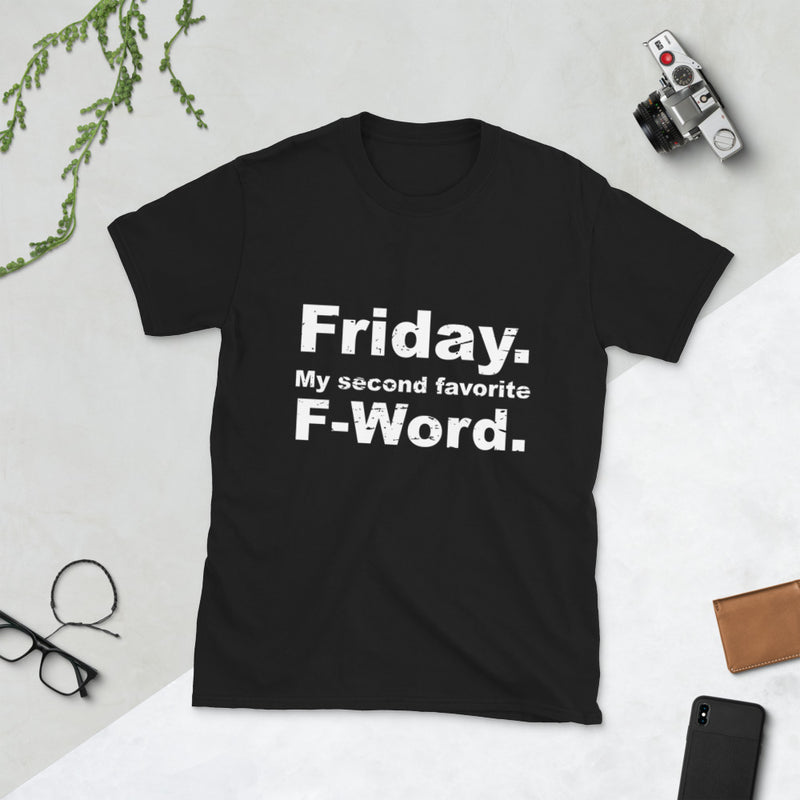 "Minty Tees ""Friday, My Second Favorite F-Word"" Funny Short-Sleeve T-Shirt"