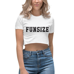 "Minty Tees ""Funsize"" Women's Crop Top"
