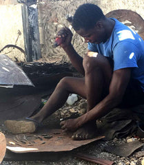 Metal Artisan in Haiti