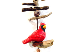 Ceramic Cardinal - Wind Chime