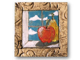 Betsy Wolfson Clay Art, One of a kind plaque