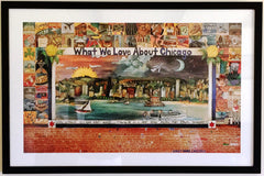 What we love about Chicago, lithograph Sticks, custom framed