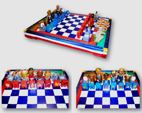 Chess Set Democrats vs. Republicans - Artwork from Sticks