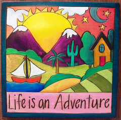 Sticks Plaque Life is Adventure
