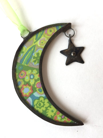 Small Multi-Color Moon Ornament