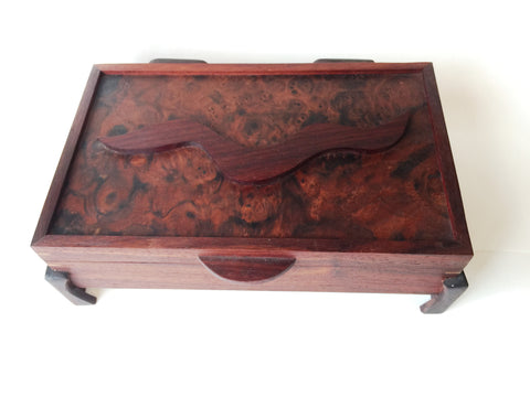 Large Jewelry Box in Solid Walnut