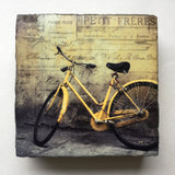 Cedar Mountain Small Art Block - Yellow Bike