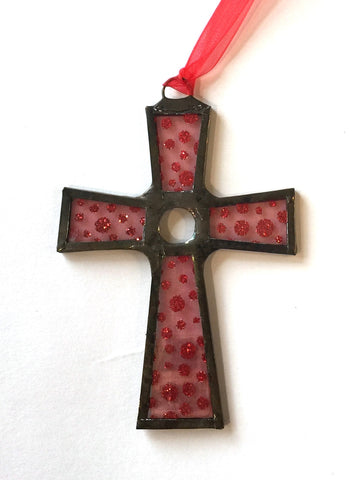 Red Dot Cross Ornament