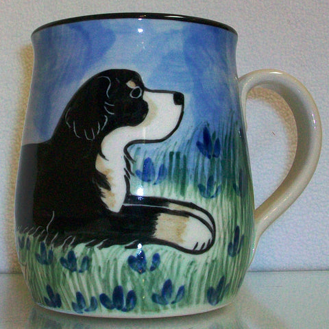 Bernese - Hand Painted Ceramic Coffee Mug