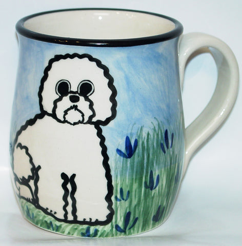 Bichon - Hand Painted Ceramic Coffee Mug