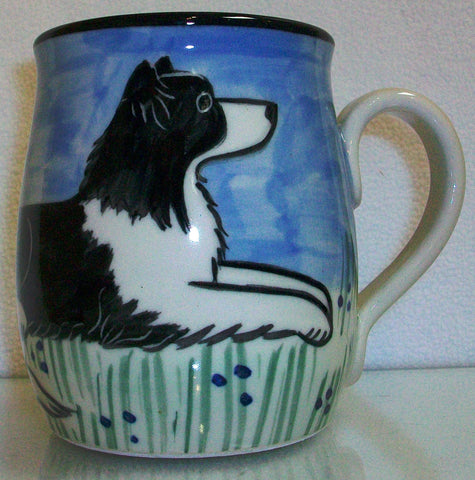 Border Collie - Hand Painted Ceramic Coffee Mug