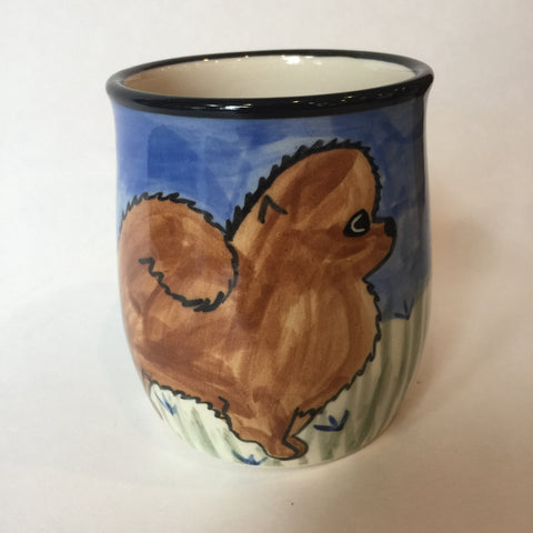 Pomeranian - Hand Painted Ceramic Coffee Mug