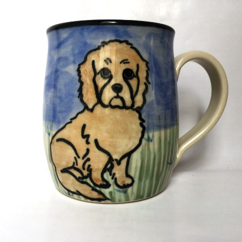 Cockapoo - hand painted ceramic mug